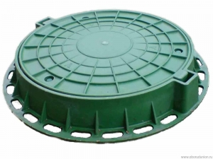 PARK PLASTIK - ЛЮК ПЛАСТИКОВЫЙ КАНАЛИЗАЦИОННЫЙ (Зеленый большой)