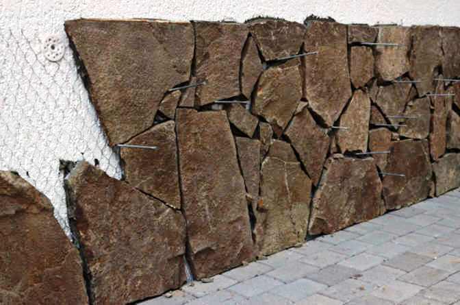 Облицовка цоколя камнем природным своими руками